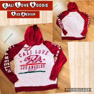 On Fire Shirts & Tops - Cali Love Long sleeve hooded T-shirt Size Medium